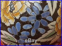 Superbe Vase Art Déco, Boch Frères Keramis. Raymond Chevallier. Décor Limité