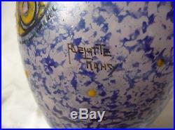 Superbe Vase Art Deco Delatte Decor Floral Emaille