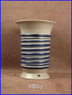 Superbe Vase En Ceramique Epoque Art Deco Signe Roger Francois Malicorne