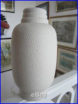 Superbe Vase En Email Crispe De Louis Fontinelle Moderniste Art Deco Signe
