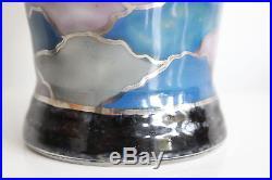 Superbe Vase LIMOGES CAMILLE THARAUD Décor de Nuages Art Déco