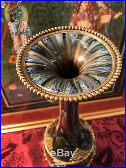 Superbe Vase Porcelaine Bronze Napoleon Iii/ Jaspe / 46 CM