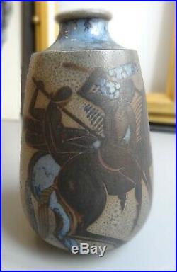 Superbe Vase Primavera Art Déco Gustave Asch Certificat d'authenticité