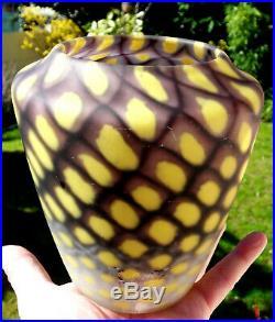 Superbe et rare vase Daum art-deco résille, parfait, era Galle, schneider 1920