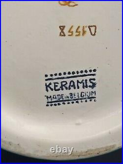 Superbe vase Charles Catteau Kéramis D1558 art déco faience émaillé 35cm