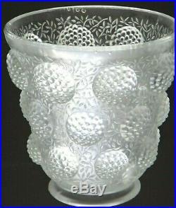 Superbe vase verre Les cabochons Verlys glass Art déco 1930