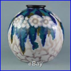 THARAUD Camille (1878-1956) Vase Art Deco en porcelain de Limoges