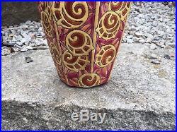 TRES Grand vase emaux de longwy 38 cm art deco