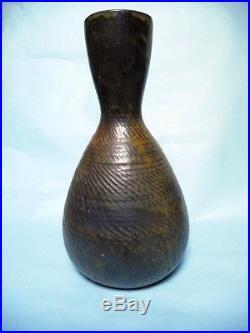 Théo perrot école de carries 1900 japonisme grand vase art nouveau art deco gres