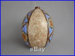 Tres Belle Forme Ovoide Pour Ce Vase Pied Lampe Louis Dage Ceramique Art Deco