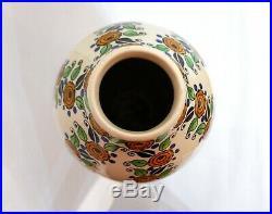Très grand vase Art Déco par Charles Catteau pour Boch La Louvière 1924