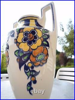 Une paire de vase et une jardinière KERAMIS BOSH ET FRÈRE ART DÉCO BELGIQUE