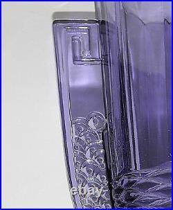 VASE ART DECO 1930 du VAL St LAMBERT LUXVALGLASS MODELE ROMEO VIOLET TRES RARE