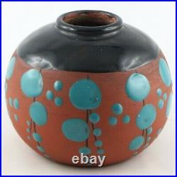VASE BOULE Céramique JEAN LECLERC VALLAURIS Art Déco 1930, barol/massier/bacs