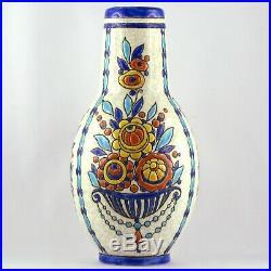 VASE Céramique BOCH FRERES LA LOUVIÈRE Art Déco 1930, catteau/keramis/longwy