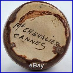 VASE Céramique MONT CHEVALIER CANNES Art Nouveau/Déco vallauris/barol/zsolnay