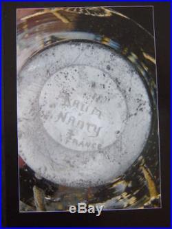 VASE signé DAUM NANCY époque 1930 ART DECO gravé a l'acide a inclusion d'or