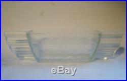 VERLYS Rare coupe vase moderniste verre satiné art deco dlg Sabino etling