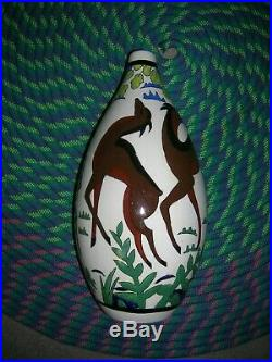 Vase 1434 art deco charles catteau boch freres keramis 31cm! PORT OFFERT