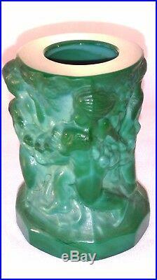Vase ART DECO de Heinrich Hoffmann (1875-1939) Bohème PUTTI VENDANGEURS