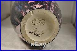 Vase Ancien Art Deco Gres Signe Mougin Antique Nancy Vase