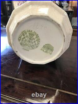 Vase Art Deco Craquelé Blanc Longwy Pomone Pour Le Bon Marché 1930