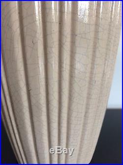 Vase Art Deco Craquelé Céramique De Boulogne