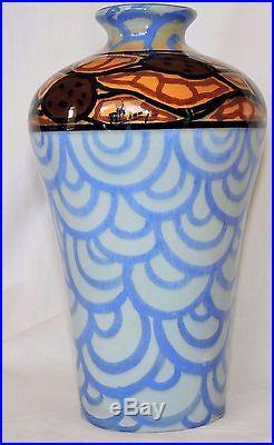 Vase Art Deco De La Faiencerie De St Jean Du Desert Marseille Parfait Etat