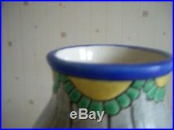 Vase Art Deco En Emaux De Longwy