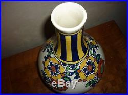 Vase Art Deco En Faience De Boch La Louviere Vase Art Deco Catteau D. 1049