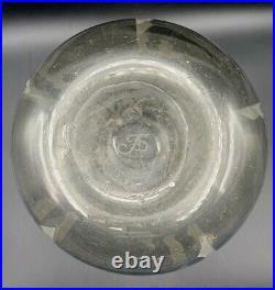Vase Art Deco Gravé au jet de sable monogramme à identifier-daum-gobena-luce