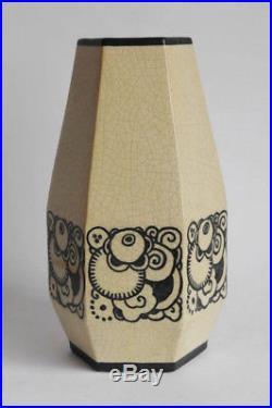 Vase Art Déco J. Adnet pour Lusca France, circa 1925, signé