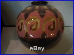 Vase Art Deco Tharaud, Porcelaine Limoges