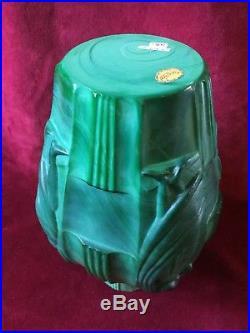 Vase Art Deco, Verre Malachite Par Artur Pleva Pour Curt Schlevogt 1930 1940
