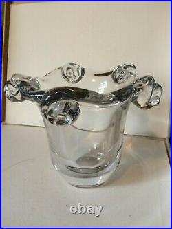 Vase Art Déco cristal soufflé Marque Daum Nancy France Poids 5,1 kg