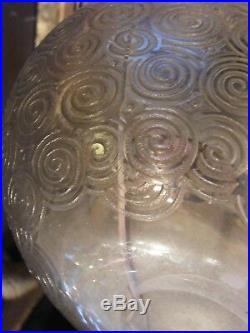 Vase Art Déco émaillé dégagé à l'acide André Delatte Nancy 1926 1933