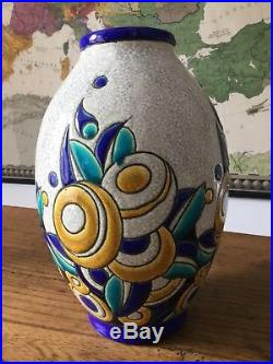 Vase Art-déco Boche Catteau Design 1930