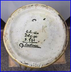 Vase Art-déco De Ch. Catteau Design 1930
