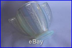 Vase Art deco verre opalescent signé CESARI verrerie (31273)