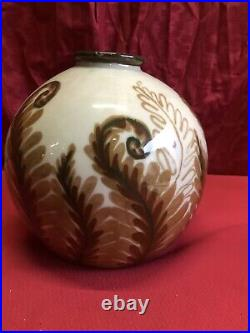 Vase Boule Art Deco Camille Tharaud Limoges