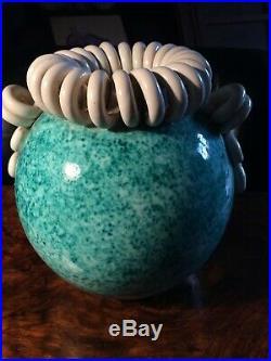 Vase Boule Art Deco Ceramique Saint Radegonde