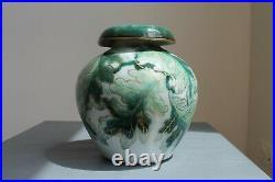 Vase Boule Céramique Camille Tharaud Limoges Art Déco Vert Amarante