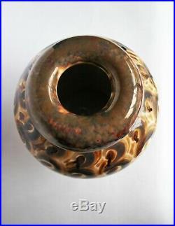 Vase Camille THARAUD'Amarante' Porcelaine de Limoges Art Déco motifs rares TBE