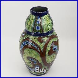 Vase Ceramique Art Deco par Brunard- Cazaux, Sue et Mare, Adnet & sons