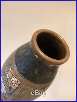 Vase Céramique GRÈS KERAMIS D. 668 / 968 Charles CATTEAU Art Deco Fleurs Belges