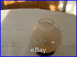 Vase Charder Le Verre Français, art déco de forme boule