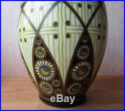 Vase Charles Catteau BFK Boch Frères Kéramis africanisant égyptien Art Déco