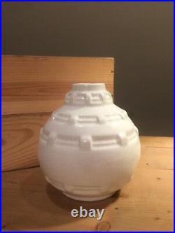 Vase Craquele Blanc 1930