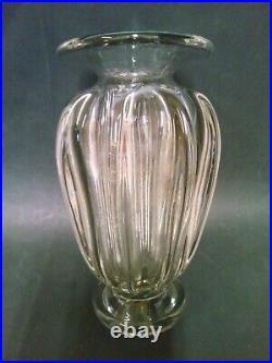 Vase Cristal Soufle Daum Nancy Art Deco Hauteur 24.5 CM