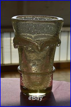 Vase Daum Art Déco style Schneider Muller Degué Marinot